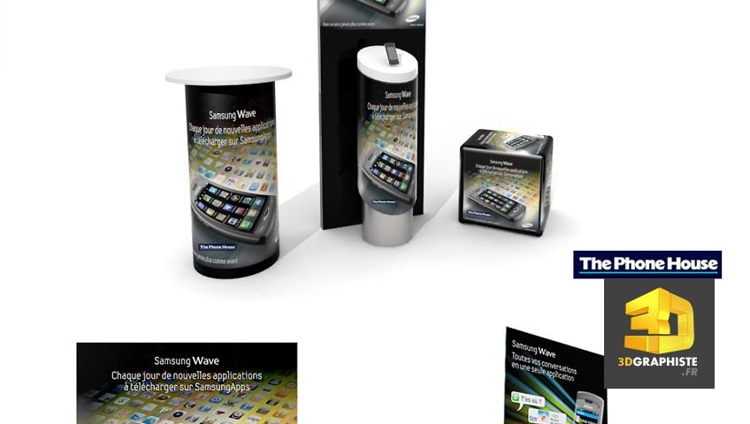 Kit expo Samsung - borne d'accueil - présentoir - kakémono - roll'up