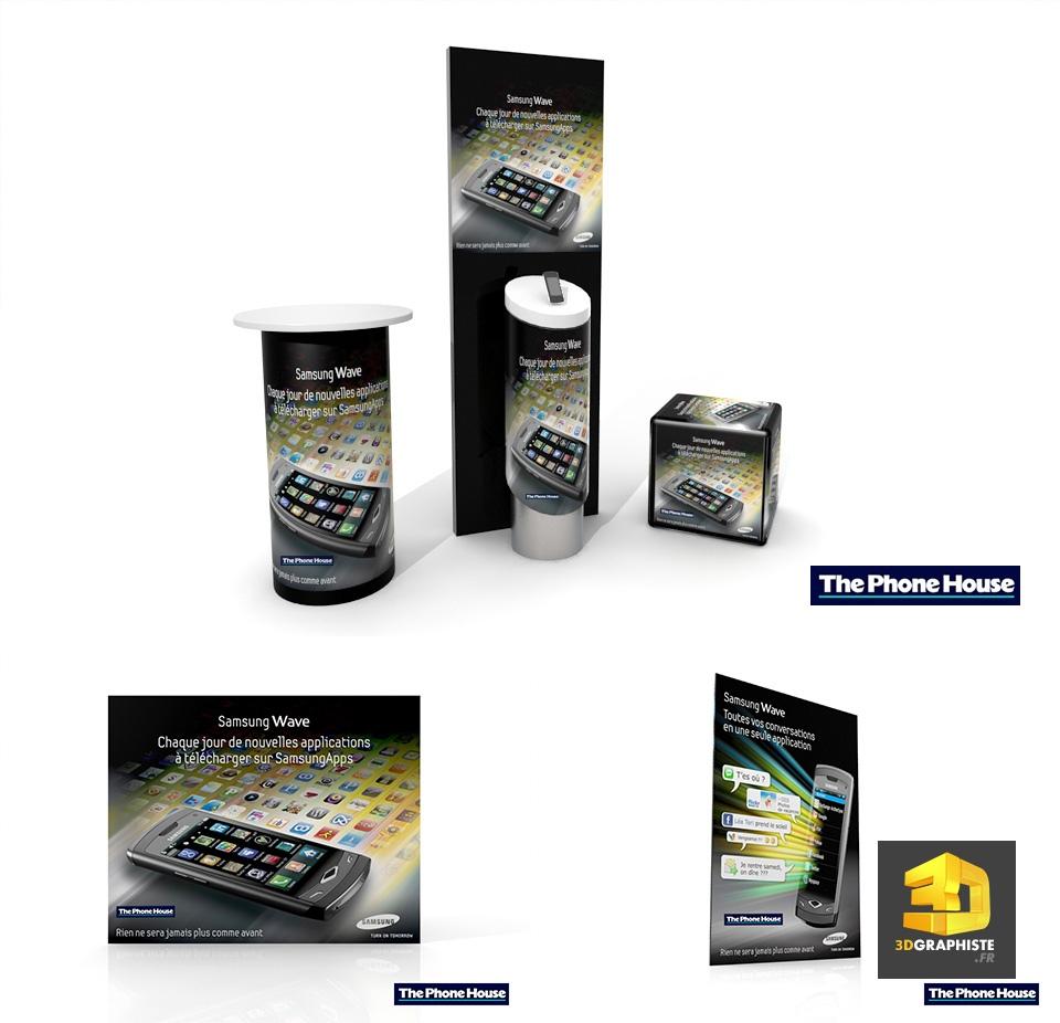 Kit Expo Samsung - Borne d Accueil - Présentoir - Kakémono - Roll up 82f56fb20ac0