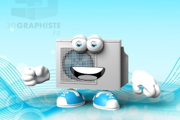 Mascottes 3D pour SDBE | La pompe à chaleur