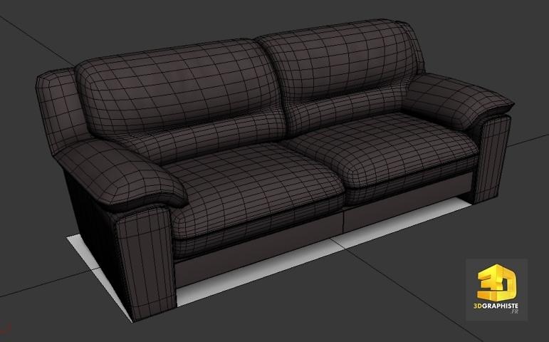 modeleur 3d canape