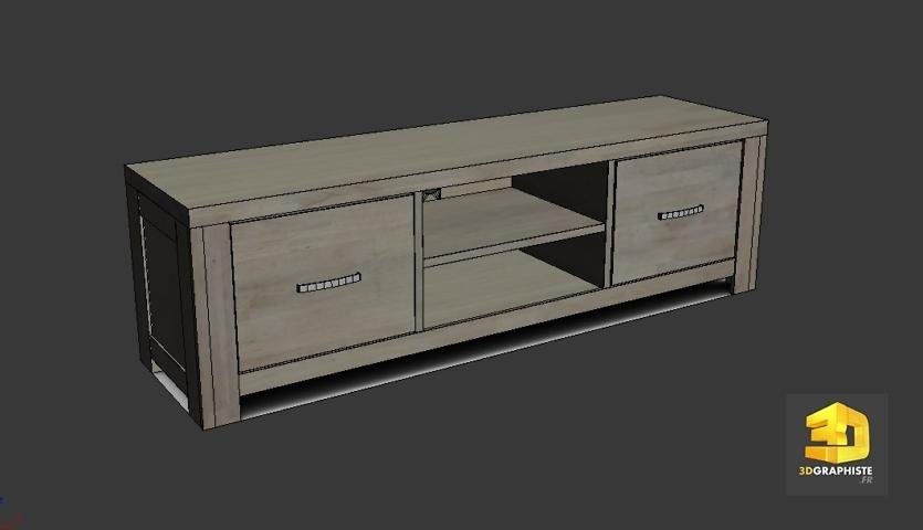 modeleur 3d meuble tv