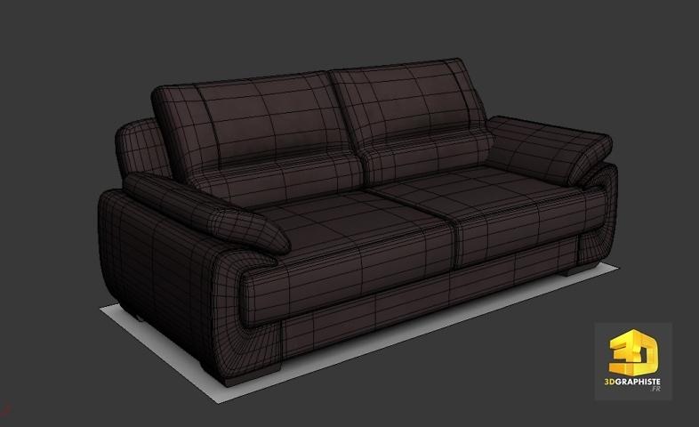 modelisation 3d canape