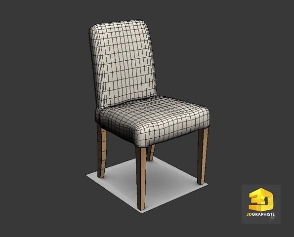 modelisation 3d chaise