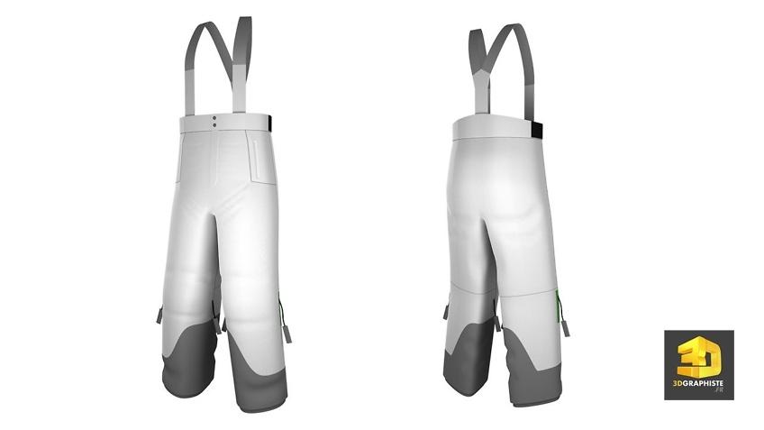 modelisation 3d de vetements salopette de ski decathlon