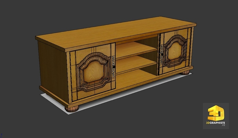 modelisation 3d meuble tv