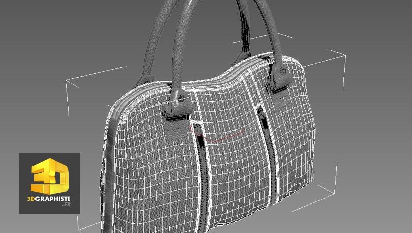 modelisation 3d sac a main