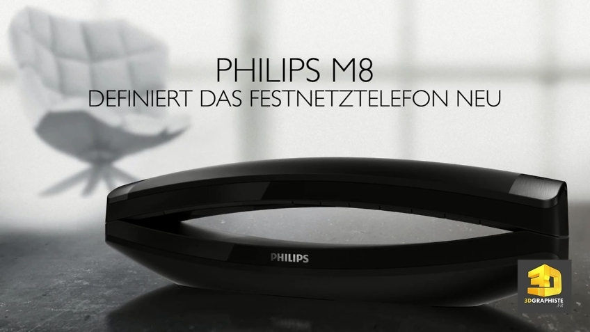 modelisation 3d telephone philips