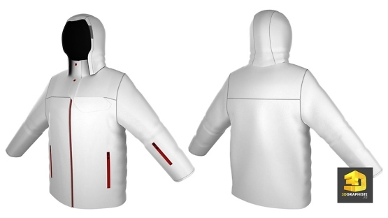 Modelisation d'habits en 3d - manteau