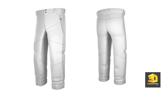Modelisation vetements pantalon de ski en 3d pour Decathlon