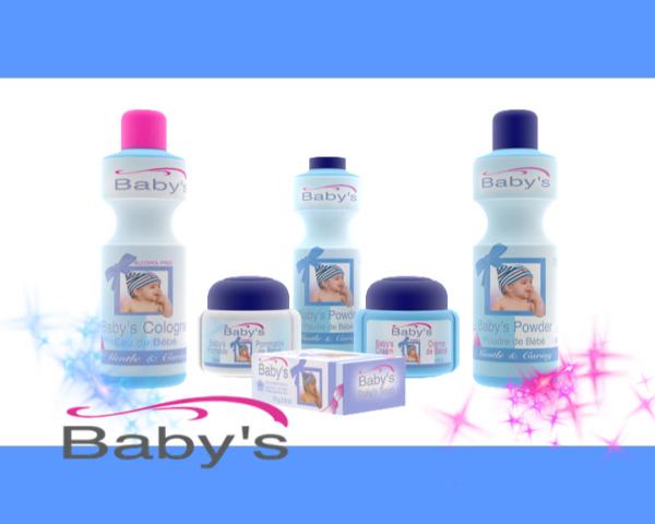 packshot 3d cosmetiques gandour baby's