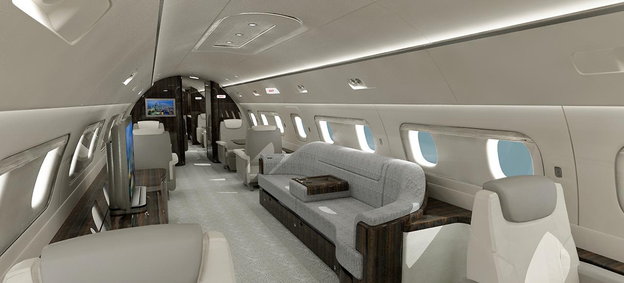 Perspective 3D intérieur Avion