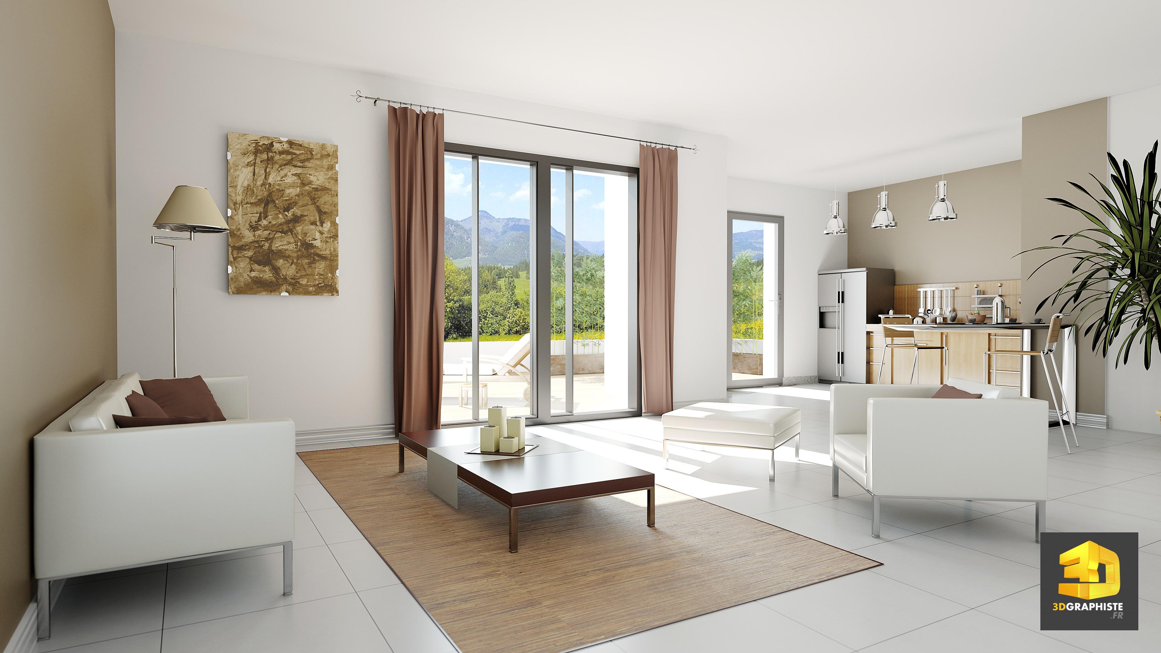 Decoratrice D Interieur Amiens perspective intérieure - le design d'interieur en 3d