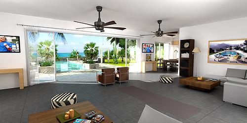 perspective interieure villa de luxe