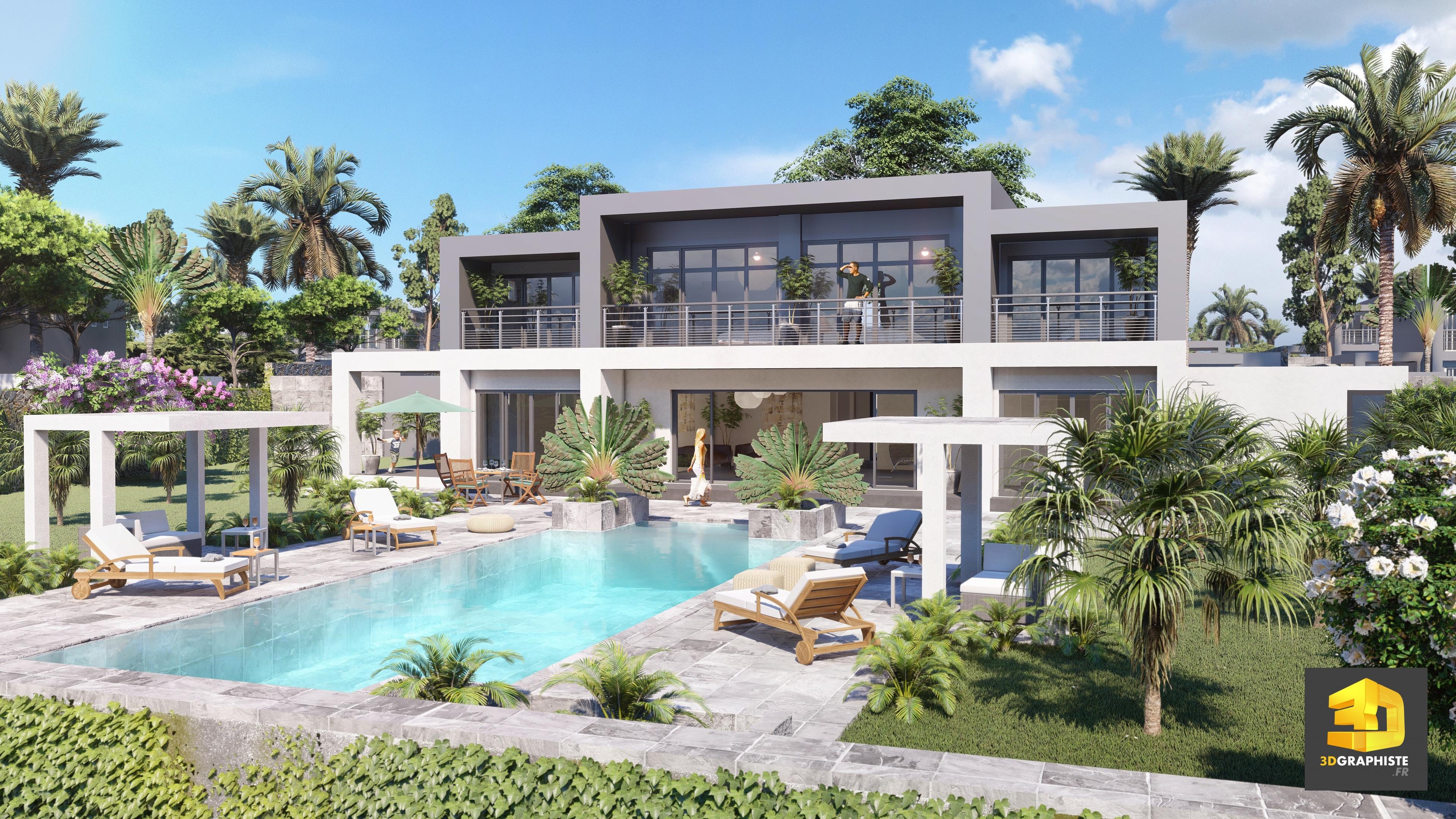 maison de luxe moderne avec plan ventana blog. Black Bedroom Furniture Sets. Home Design Ideas