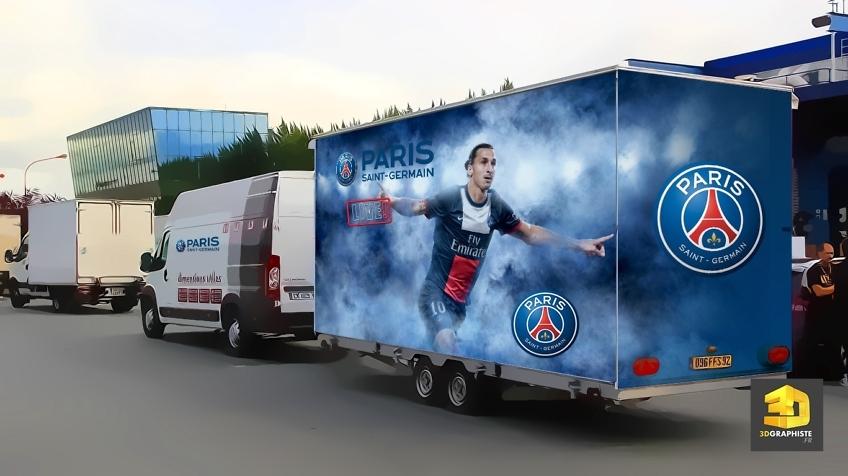 Remorque évènementielle - Camion publicitaire - Rough PSG