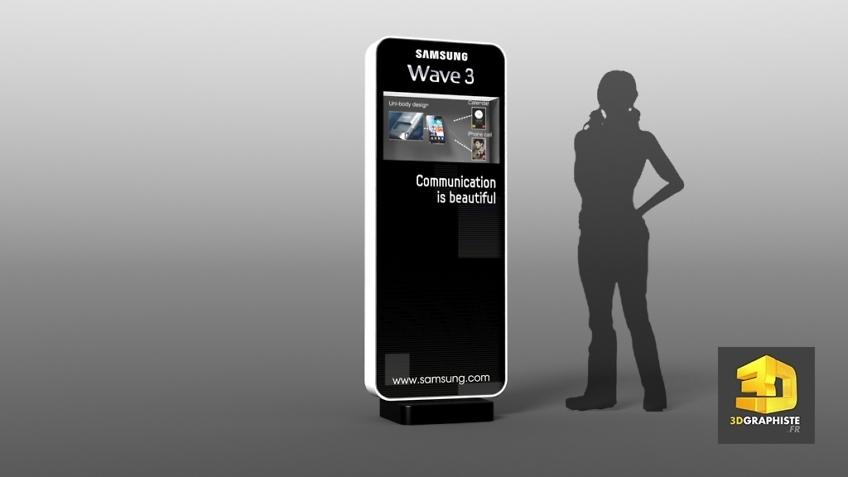 Rough 3D - Borne Tactile Samsung - Roughman Événementiel