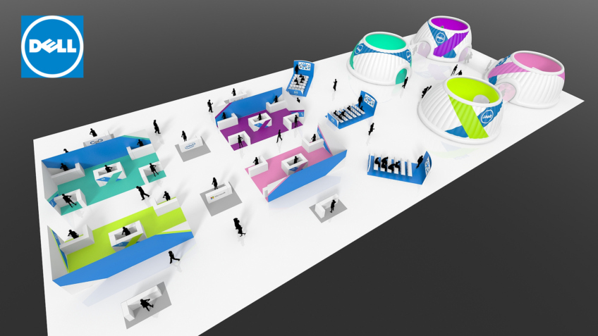 Rough 3D convention Dell - Plans d'implantation