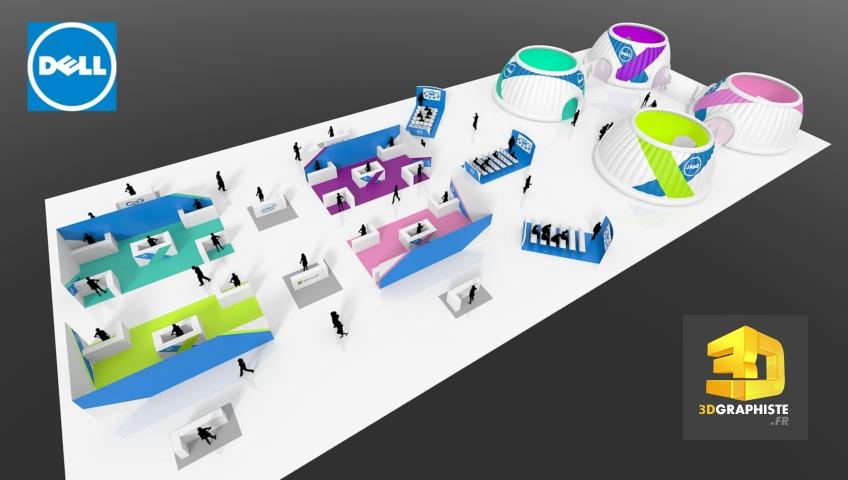 Rough 3D convention Dell - Plans d'implantation