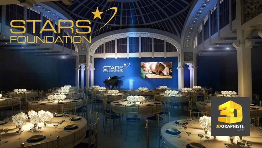 Rough 3d événementiel d'une conférence gala
