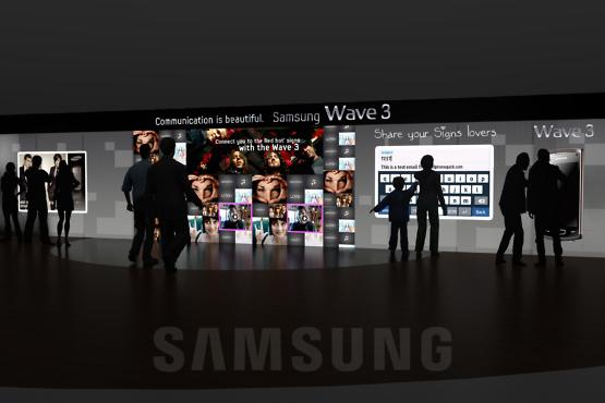 Rough 3D Mur Tactile Samsung - Roughman Événementiel