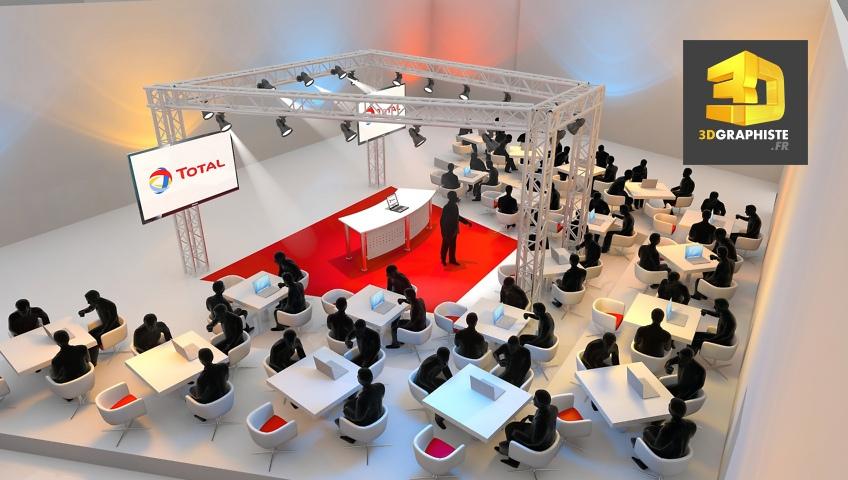Rough 3D Workshops Ateliers événementiel - Total