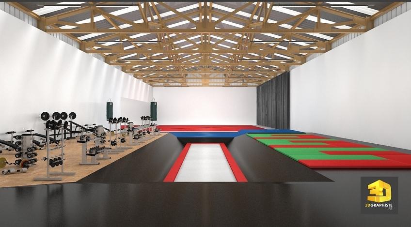 salle de sport infographiste 3d architecture