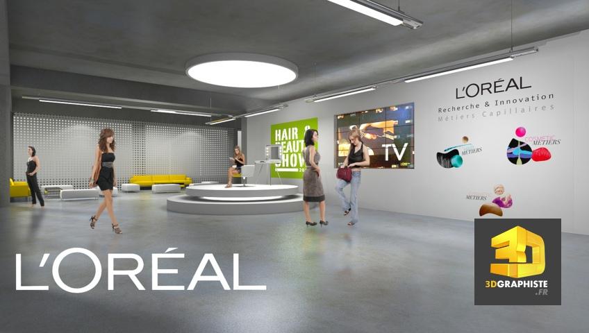 Showroom Perspectives 3D - Rough L'Oréal