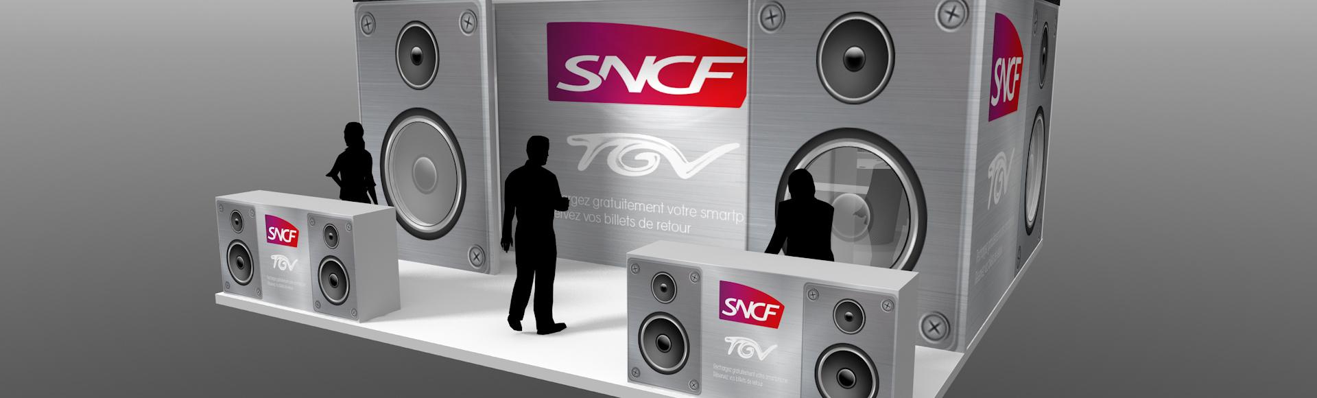 Stand SNCF - Eurockeennes - Designer de stand