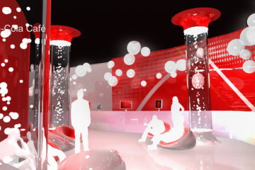 Animation 3D evenementielle pavillon coca-cola jo shanghai