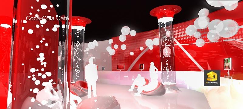 Animation 3D évènementielle pavillon Coca-Cola JO Shanghai