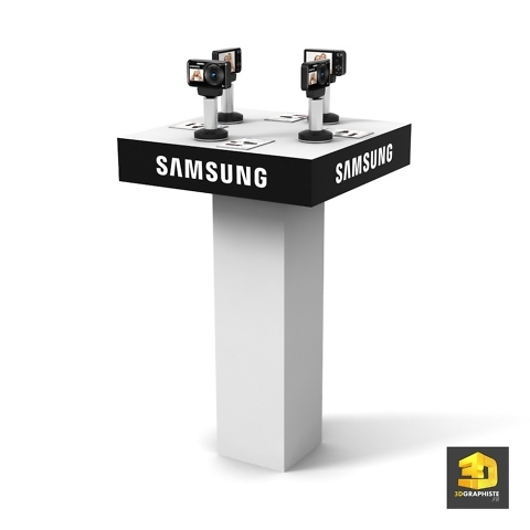 borne presentoir samsung appareil photo
