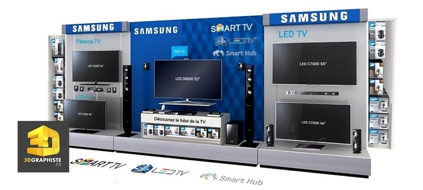 Creation meuble linéaire Samsung