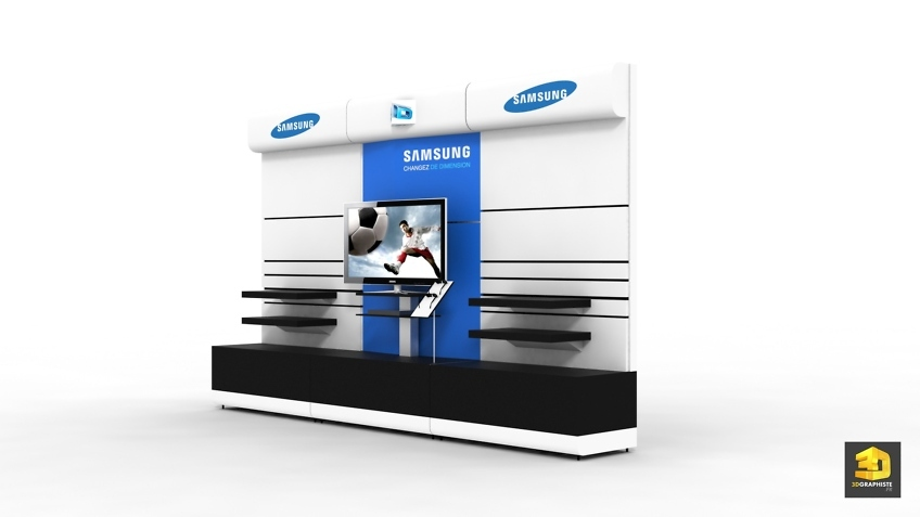 Designer meuble lineaire wall produits Samsung