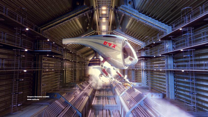 Illustrateur science fiction - Vaisseaux spatiaux de réparation