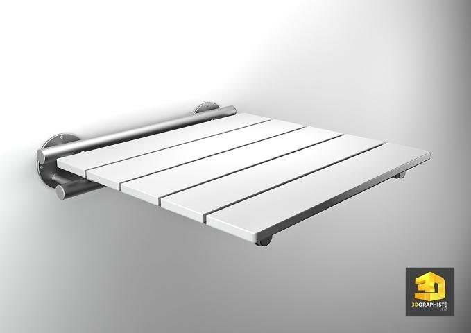 illustration 3d siege plastic
