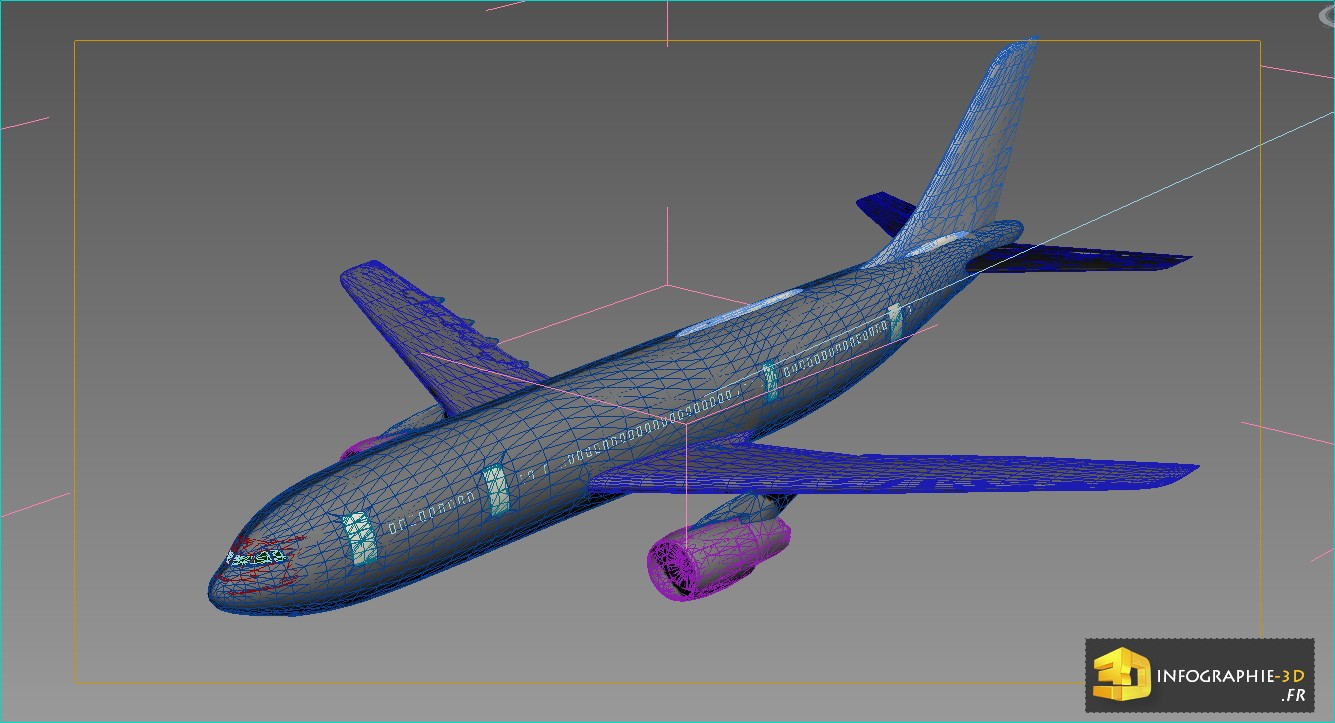 Mod lisation 3d avion 3dgraphiste fr for L interieur d un avion