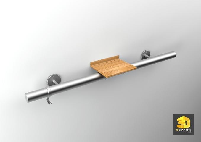 modelisation 3d accessoire barre