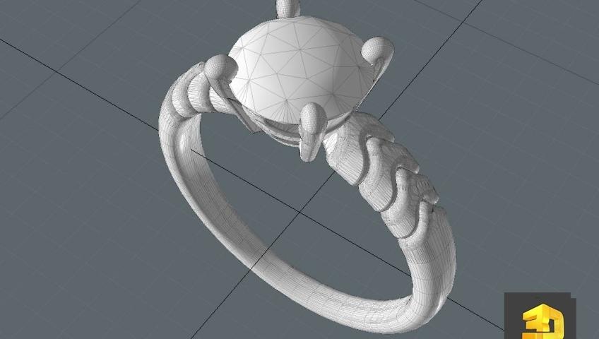 modelisation de bijoux en 3d