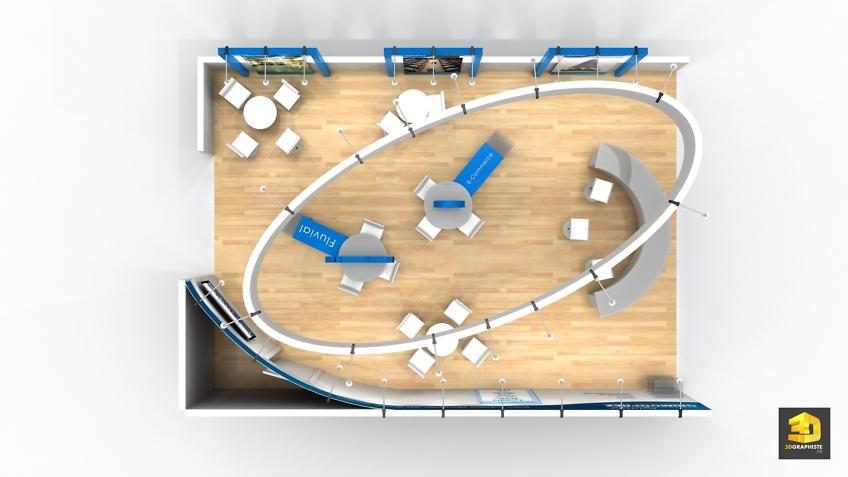 Perspective 3D plan de stand Grimonprez
