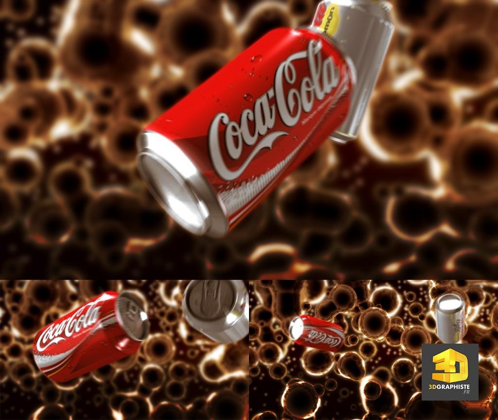 publicite 3d realisation coca-cola