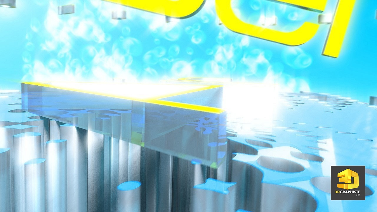 Animation 3D d'un logo - Graphiste logo animé