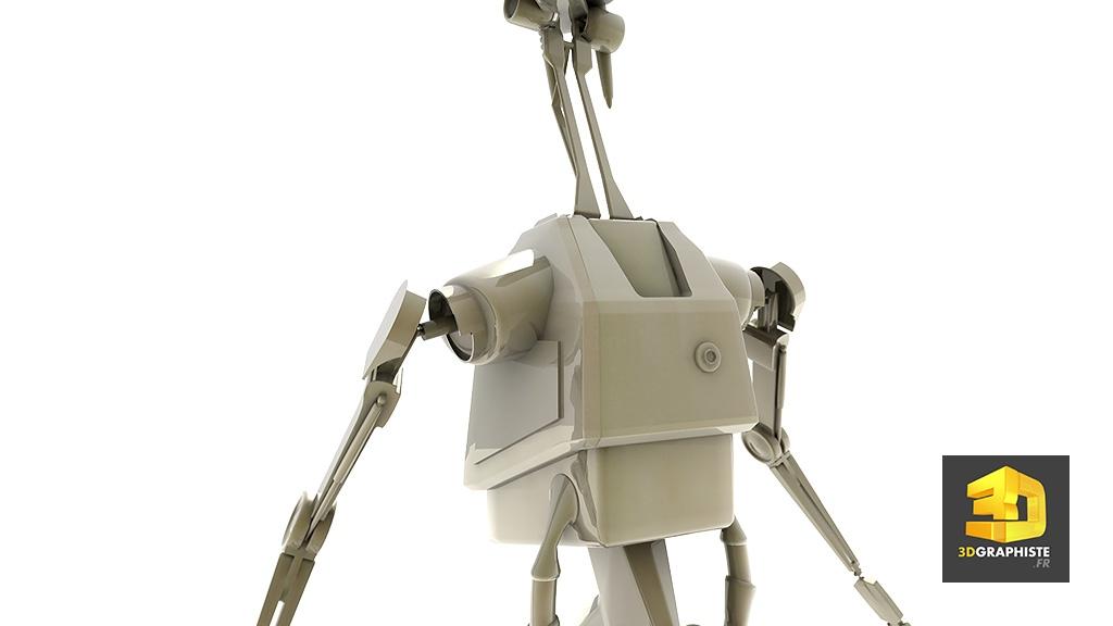 Personnage 3d le robot de starwars 3dgraphiste fr - Personnage star wars 6 ...