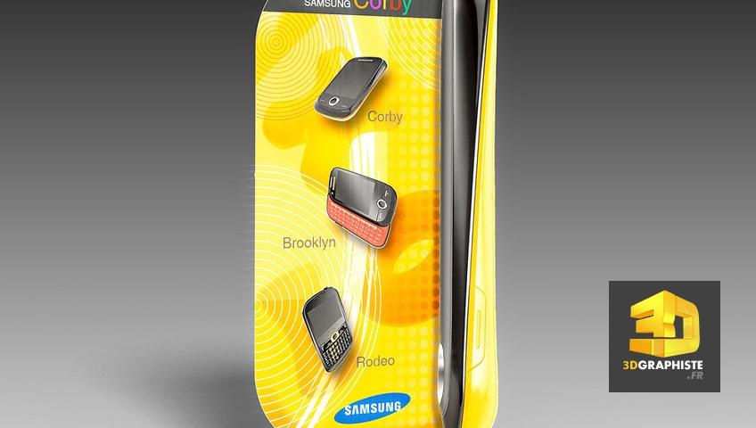 Kakémono PLV communication Samsung téléphones mobiles