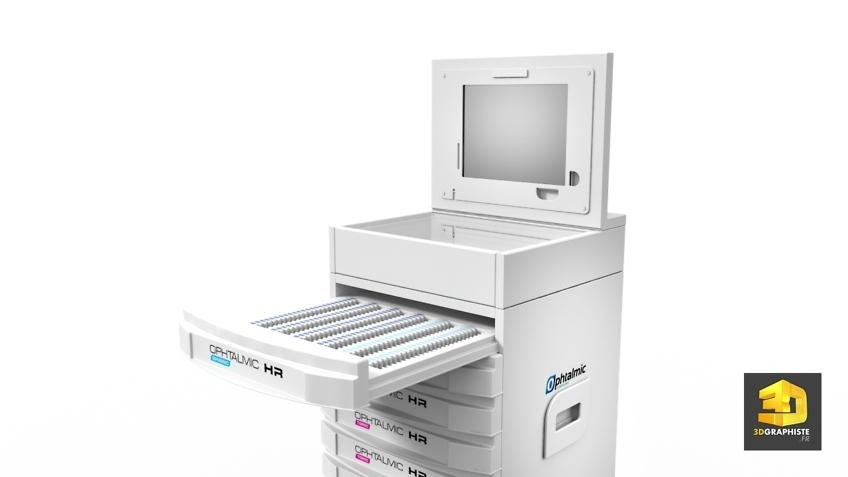 Image 3D - Station de travail Ophtalmique