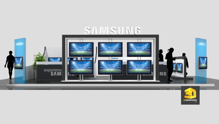 agencement commercial - espace TV Samsung