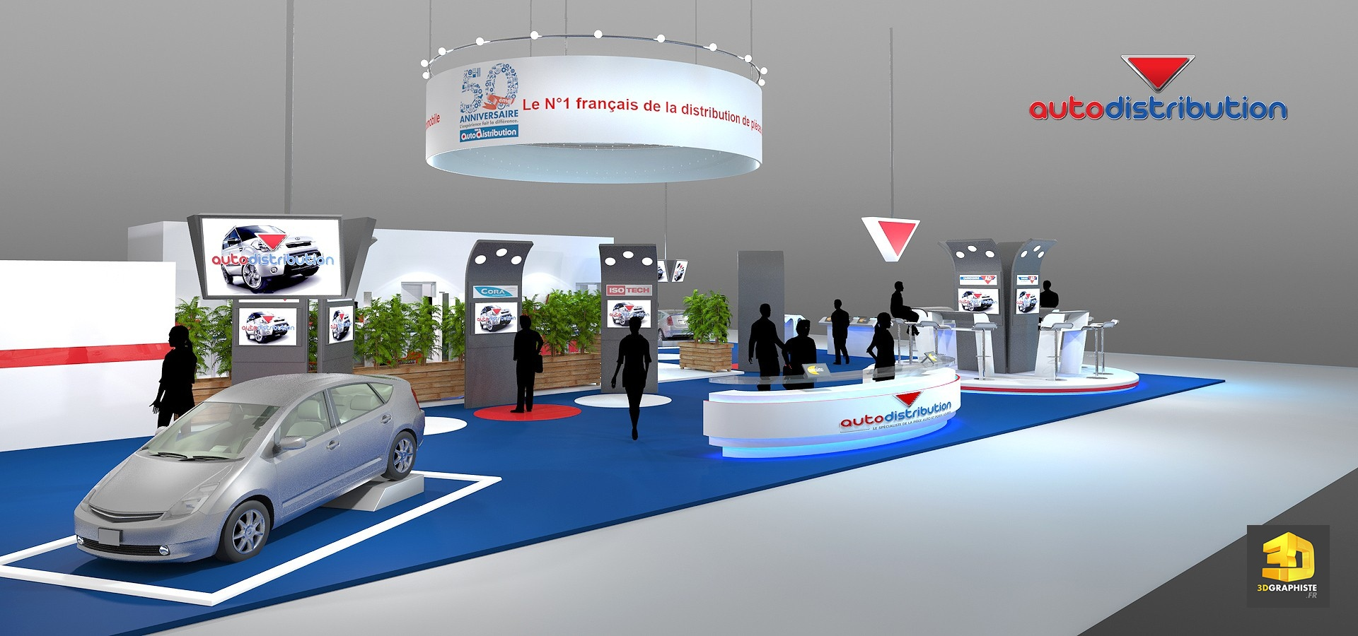 Agencement de stand autodistribution 3dgraphiste fr for Agencement de stand