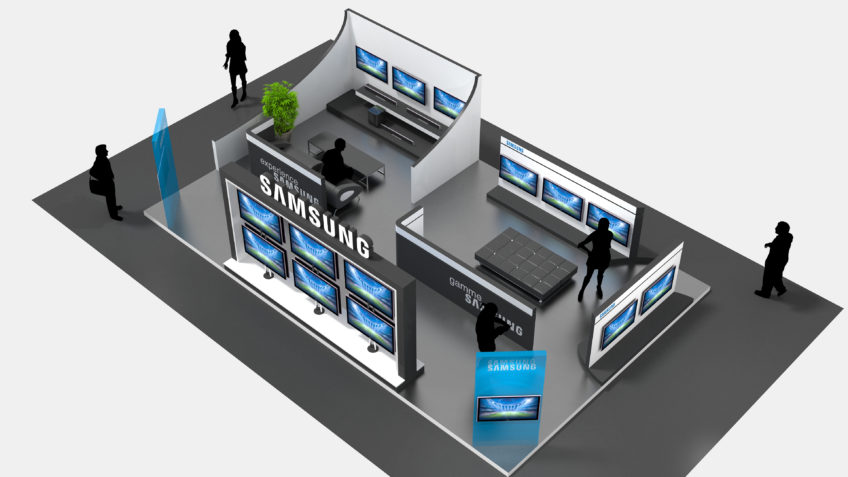 agencement magasin -- espace tv samsung