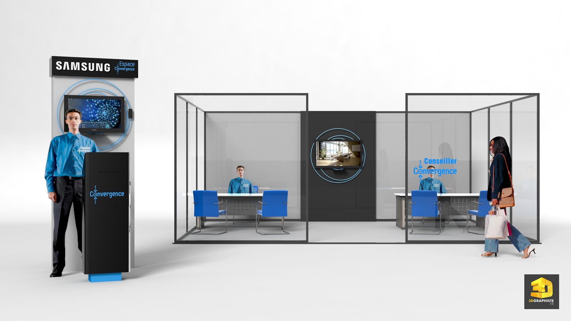 espace de vente comptoir d 39 accueil bornes bureaux vendeurs 3dgraphiste fr. Black Bedroom Furniture Sets. Home Design Ideas