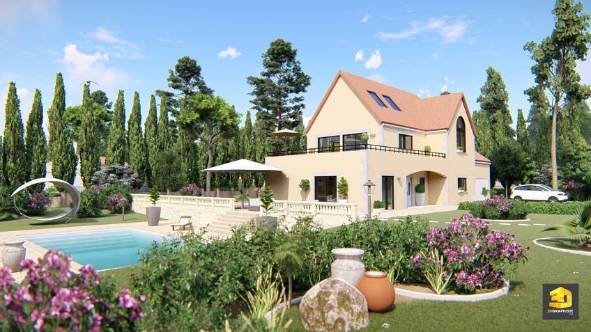 Architecture maison Weser - chaîne d'angle