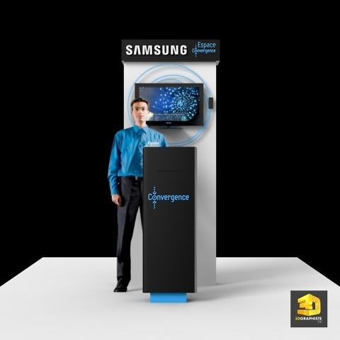 Borne vendeur Samsung - Graphiste PLV